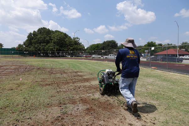 Aeration of a football in Austin Texas